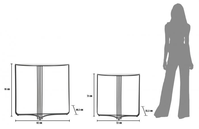 Set 2 console DUBLINO (cm) 81X40,5X82 - 71X35,5X72 7