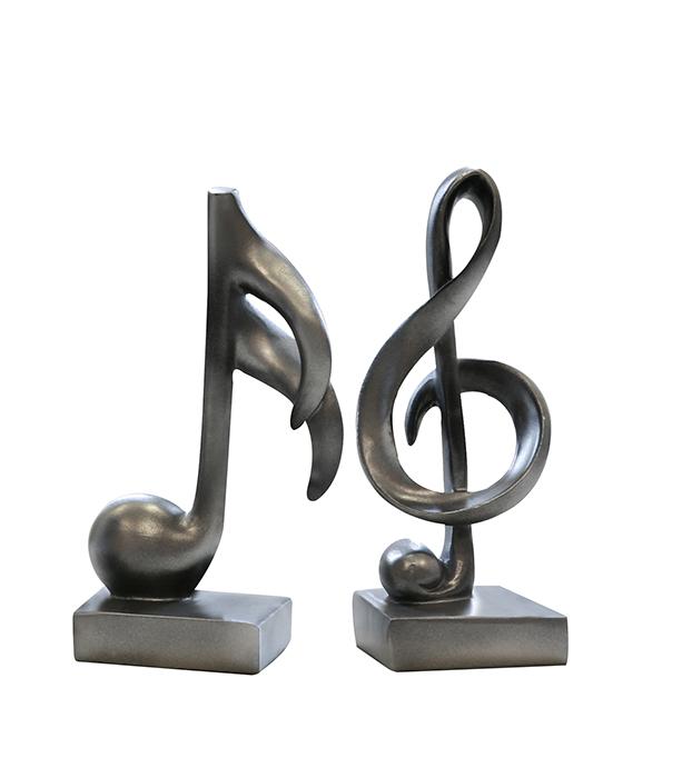 Set 2 deco MUSIC, rasina, 18x5 cm 0