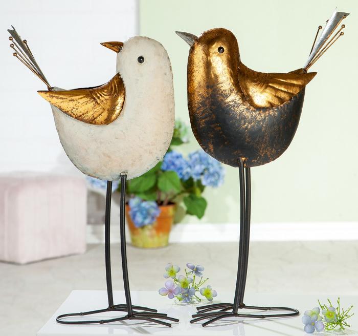 Poza Set 2 decoratiuni de gradina Bird, metal, multicolor, 26x47.5x14 cm