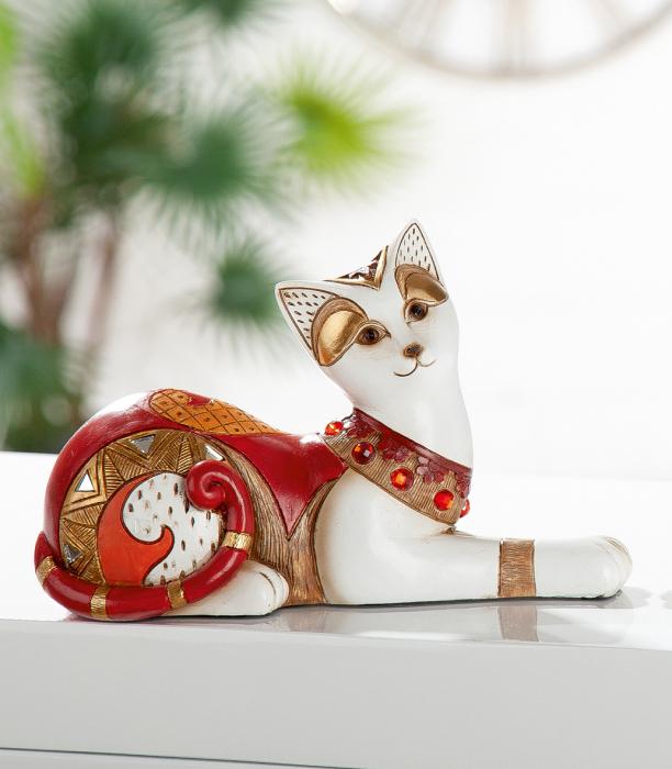 Set 2 figurine cat Amaranth, rasina, multicolor, 21x14x9 cm imagine 2021 lotusland.ro