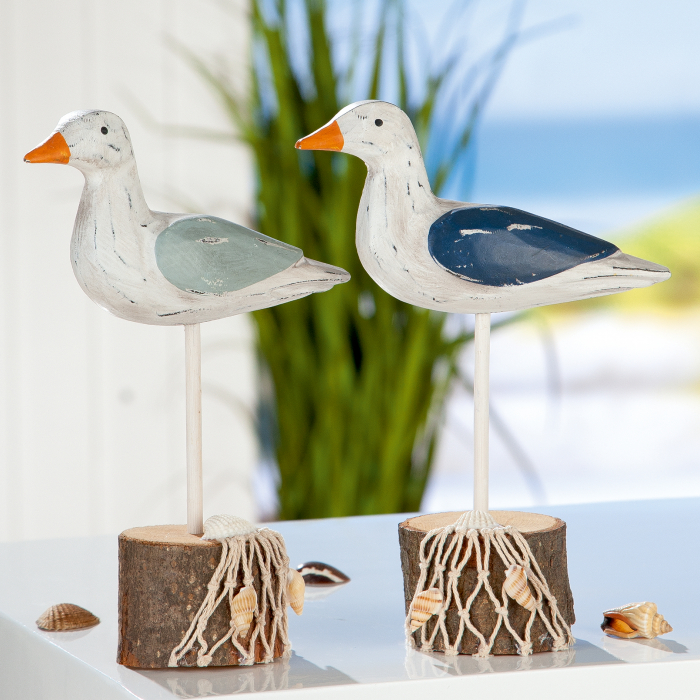 Set 2 figurine Gull, MDF, multicolor, 15x20x5 cm lotusland.ro