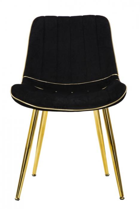 Set 2 fotolii PARIS negru/auriu (cm) 51X59X79 4