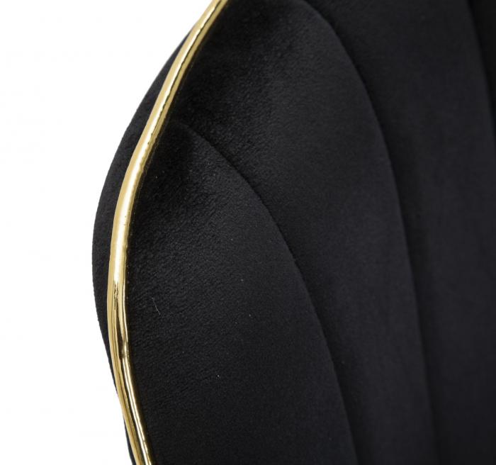Set 2 fotolii PARIS negru/auriu (cm) 51X59X79 7