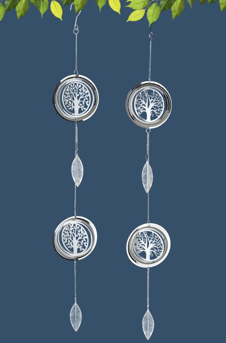 Set 2 ghirlande Albero, otel, argintiu, 90x13 cm 2021 lotusland.ro