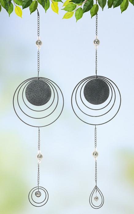 Set 2 ghirlande Solar System, metal, argintiu, 16x64x2 cm 2021 lotusland.ro