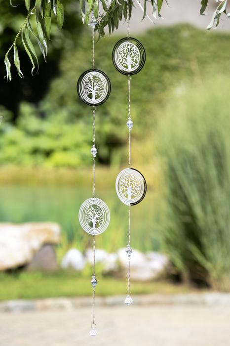 Set 2 ghirlande Tree of Life, otel, argintiu, 100x10 cm lotusland.ro