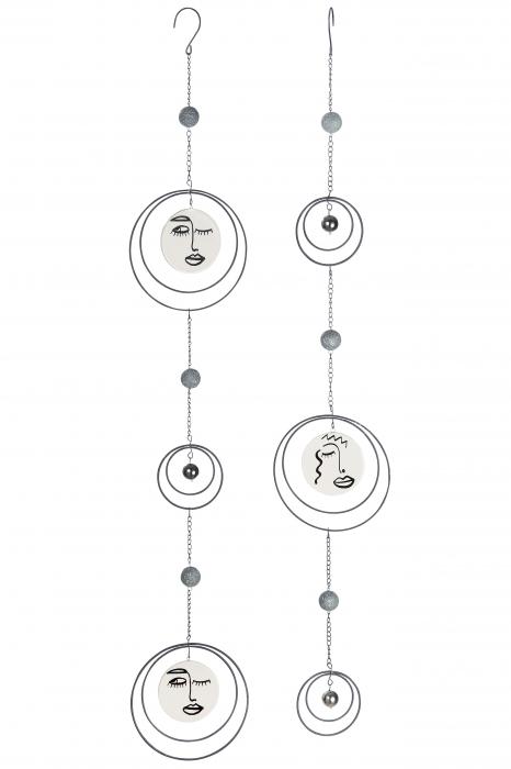 Set 2 ghirlande Visione, metal, argintiu, 15x93x2 cm lotusland.ro