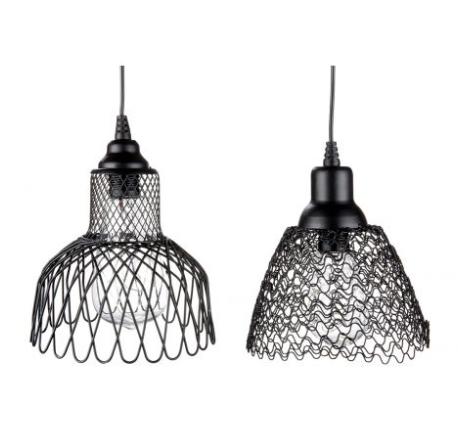 Set 2 lampi solare cu Led Mesh, metal, negru, 15x14.5 cm 2
