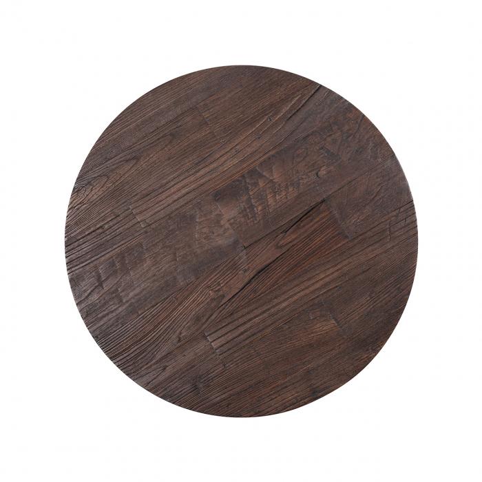 Set 2 masute Cromford, Lemn/Metal, Bronz/Maro, 40/35x90/70x90/70 cm [3]