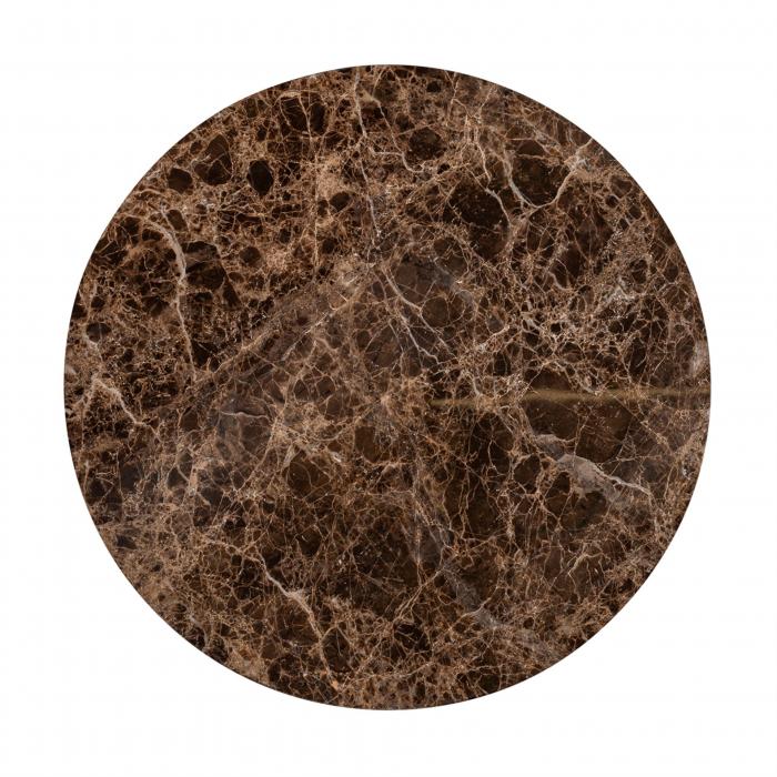 Set 2 masute Dalton, Marmura/Fier, Negru/Maro, 45/34x60/45x60/45 cm [7]