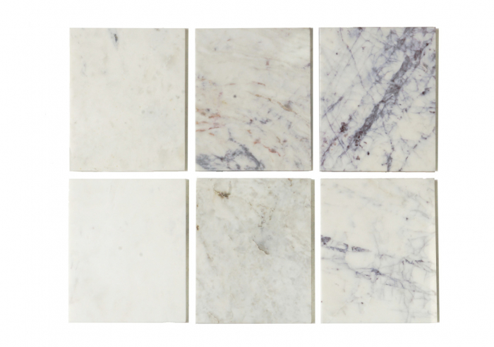 Set 2 masute Levanto, Marmura/Otel inoxidabil, Alb/Argintiu, 46/36x91.5/76x91.5/76 cm [2]