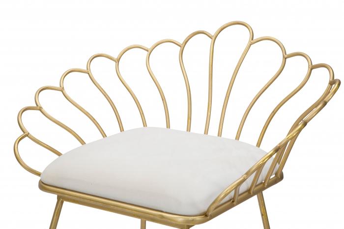Set 2 scaune bar GLAM FLOWER, alb,  CM 57X52X94-56X48X72,50, Mauro Ferretti [3]