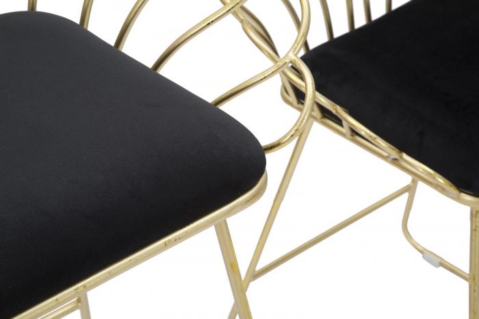 Set 2 scaune de bar GLAM FLOWER  (cm) 57X52X94-56X48X72,50 3