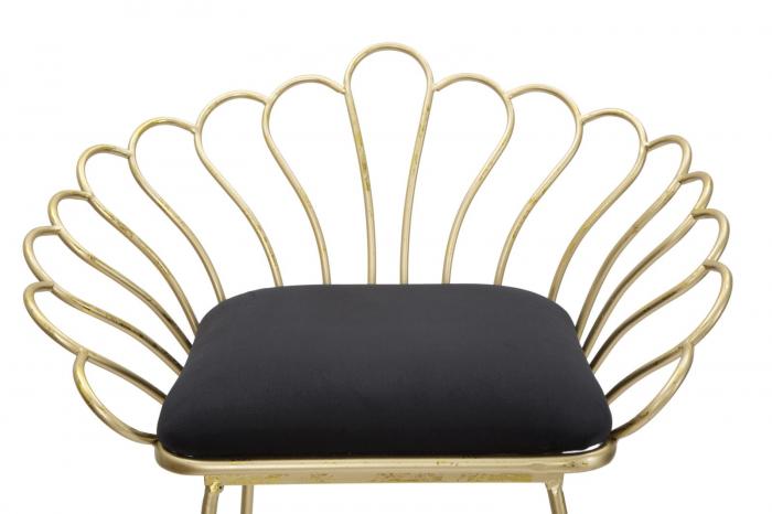 Set 2 scaune de bar GLAM FLOWER  (cm) 57X52X94-56X48X72,50 4