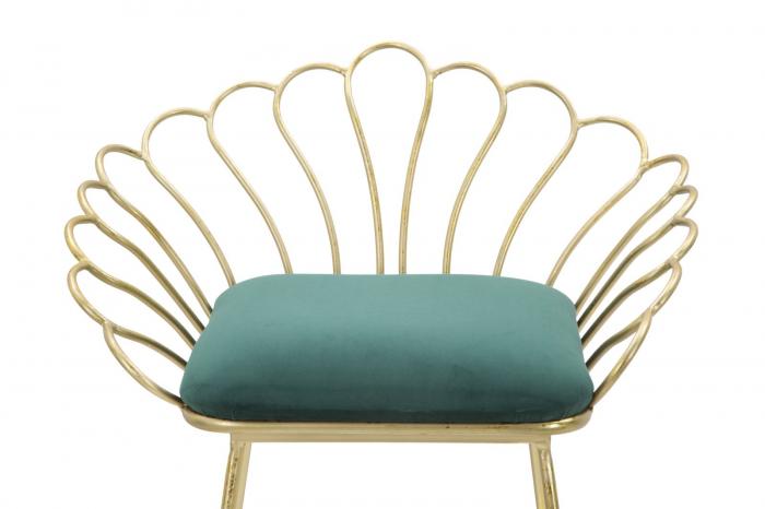 Set 2 scaune de bar GLAM FLOWER  (cm) 57X52X94-56X48X72,50 6