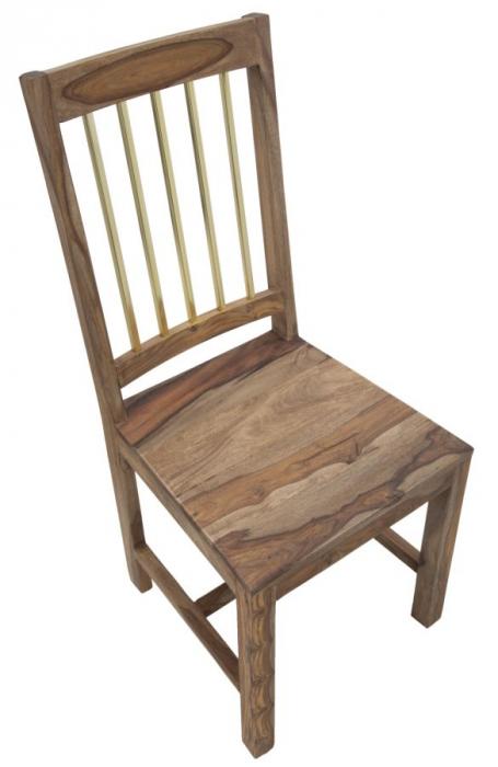 Set 2 scaune ELEGANT, lemn masiv sheesham, 45X50X100 cm, Mauro Ferretti 3