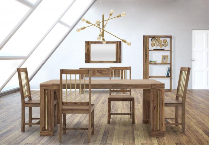 Set 2 scaune ELEGANT, lemn masiv sheesham, 45X50X100 cm, Mauro Ferretti 9