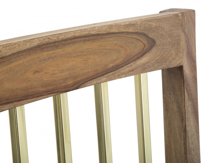 Set 2 scaune ELEGANT, lemn masiv sheesham, 45X50X100 cm, Mauro Ferretti 5
