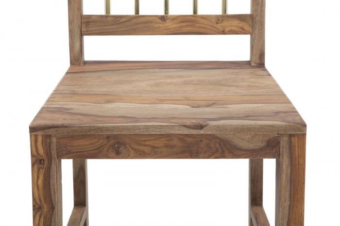 Set 2 scaune ELEGANT, lemn masiv sheesham, 45X50X100 cm, Mauro Ferretti 4
