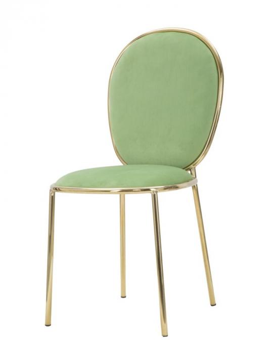 Set 2 scaune GLAM EMILY GREEN  (cm) 44X50X90  2