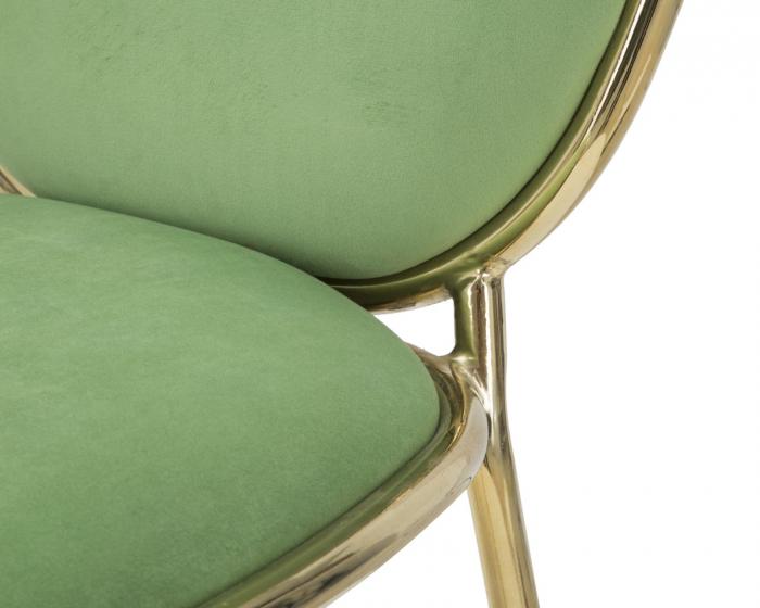 Set 2 scaune GLAM EMILY GREEN  (cm) 44X50X90  4