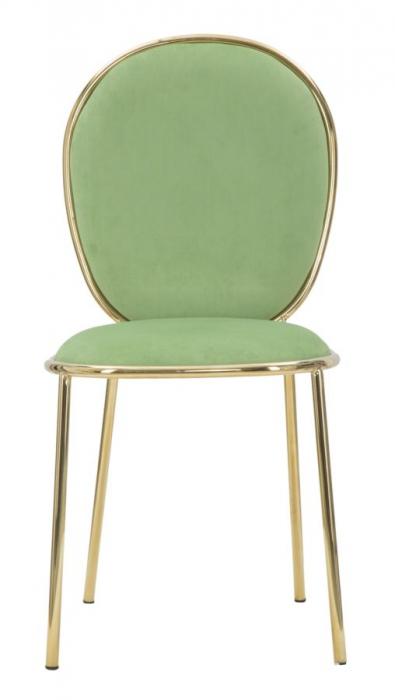 Set 2 scaune GLAM EMILY GREEN  (cm) 44X50X90  1