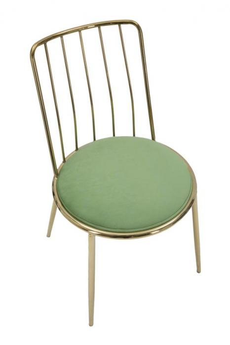 Set 2 scaune GLAM LODOVIC GREEN (cm) 45X50X80  4