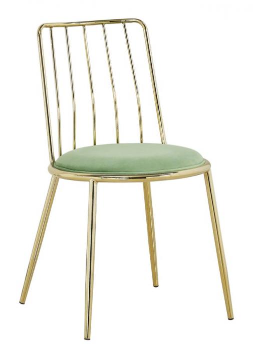 Set 2 scaune GLAM LODOVIC GREEN (cm) 45X50X80  0