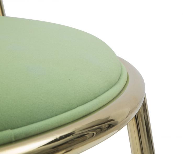 Set 2 scaune GLAM LODOVIC GREEN (cm) 45X50X80  5