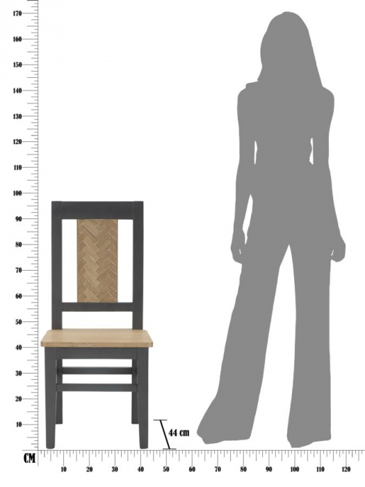 Set 2 scaune MALE'  (cm) 44X44X96  8