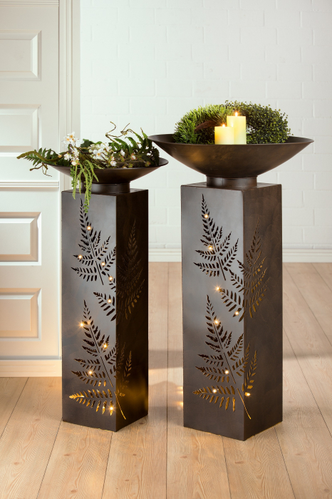 Set 2 suporturi de flori FERN, metal, 101/98x50 cm 0