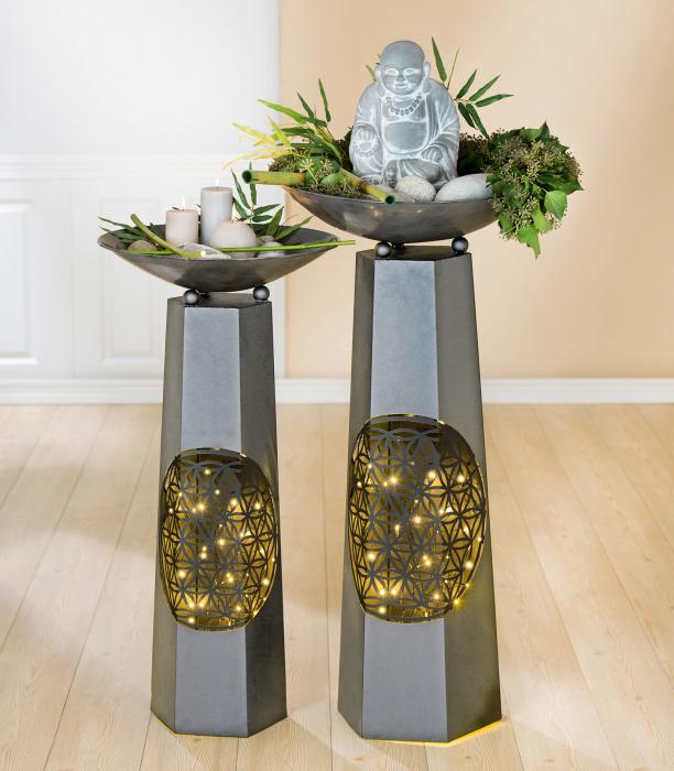 Set 2 suporturi de flori, FLORALE, metal, 102X50 0