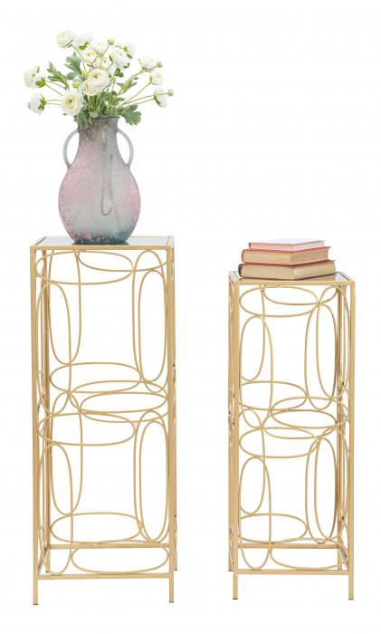 Set 2 masute BUBBLES COPPIA  CM 35X35X90-30X30X80, Mauro Ferretti [1]