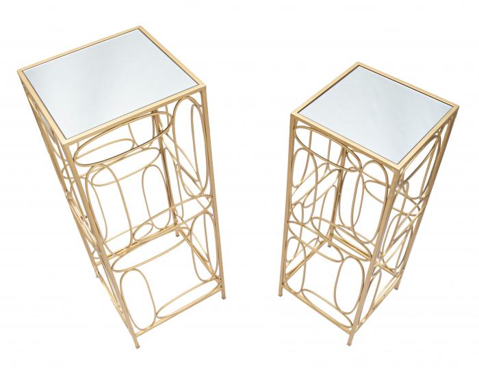 Set 2 masute BUBBLES COPPIA  CM 35X35X90-30X30X80, Mauro Ferretti [5]