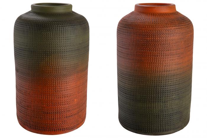 Set 2 vaze ETHNO, ceramica, 14 x 21 cm lotusland.ro