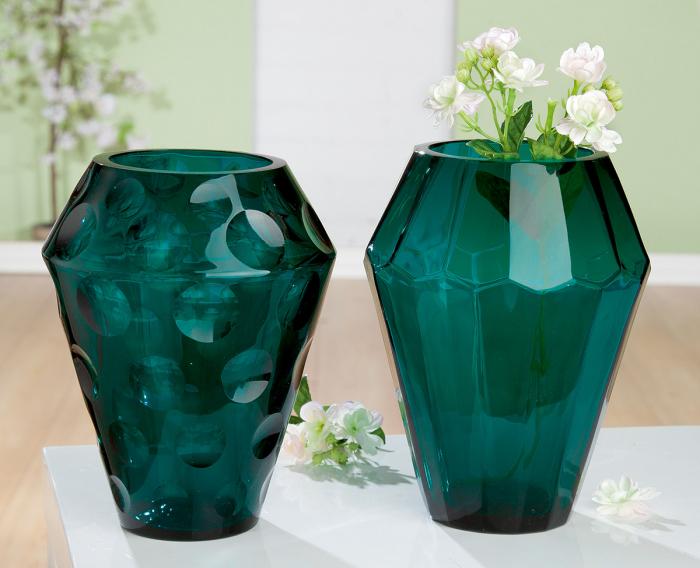 Set 2 vaze TINTA, sticla, 11x23 cm 2021 lotusland.ro
