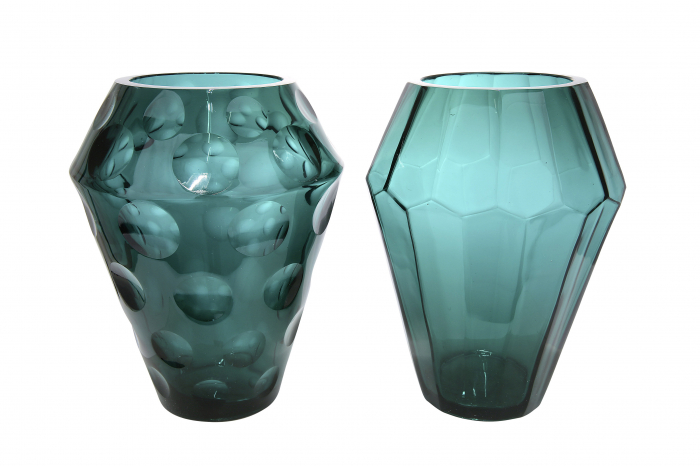 Set 2 vaze TINTA, sticla, 11x23 cm 1