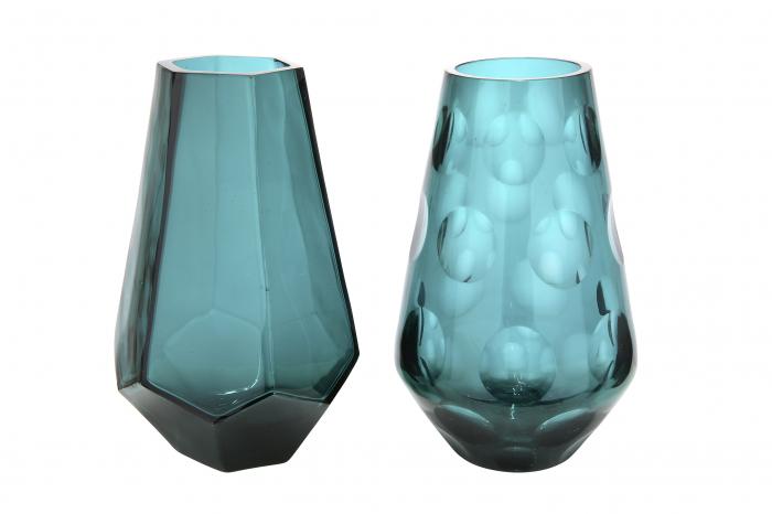 Set 2 vaze TINTA, sticla, 6x18 cm 1