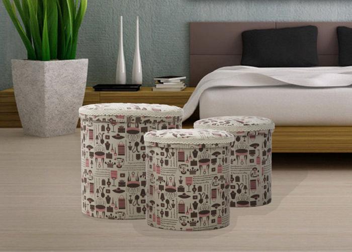 Set 3 cutii depozitare (cm) 44X44 - 38X38 - 34X34 3
