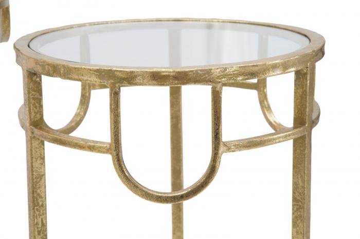 Set 3 masute GOLD  (cm) Ø 33X70-28X60-23X50 8