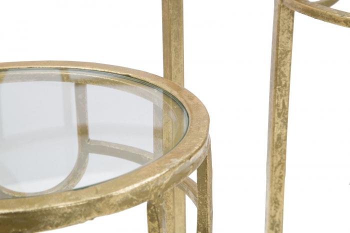 Set 3 masute GOLD  (cm) Ø 33X70-28X60-23X50 6