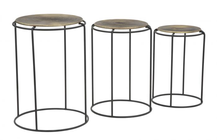 Set 3 masute metalice, 48X66.5 cm-42X59.5 cm-36X52.5 cm, Mauro Ferretti [2]