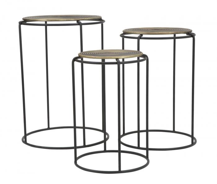 Set 3 masute metalice, 48X66.5 cm-42X59.5 cm-36X52.5 cm, Mauro Ferretti [4]
