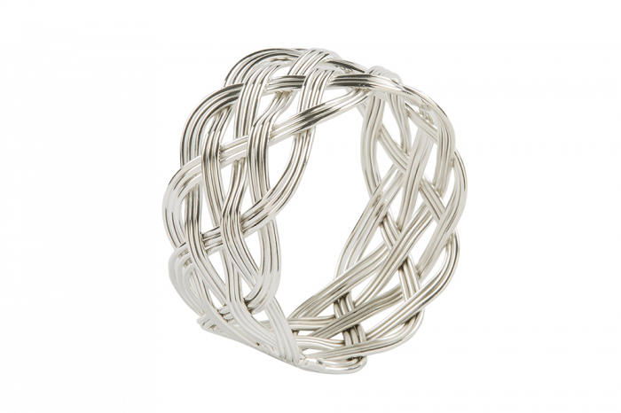 Set 4 inele servete de masa KATE, placate cu argint, 4.5 cm 1