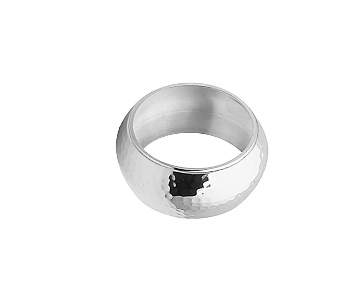 Set 4 inele servetele de masa HAMMERED, placate cu argint, 2.5x4.5 cm 1