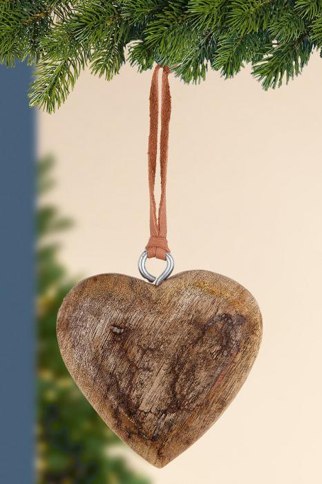 Set 6 decoratiuni HEART, mango, 7.5x2x14 cm imagine 2021 lotusland.ro