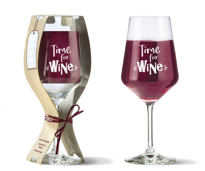 Set 6 pahare de vin TIME FOR WINE, 22X9.2 cm 2021 lotusland.ro