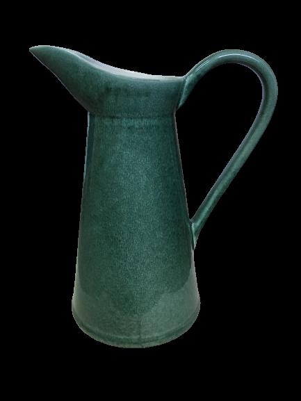 Set Carafa cu Vaza si Farfurie VAUX, ceramica, verde maslina, 32.5/33/5 cm 8
