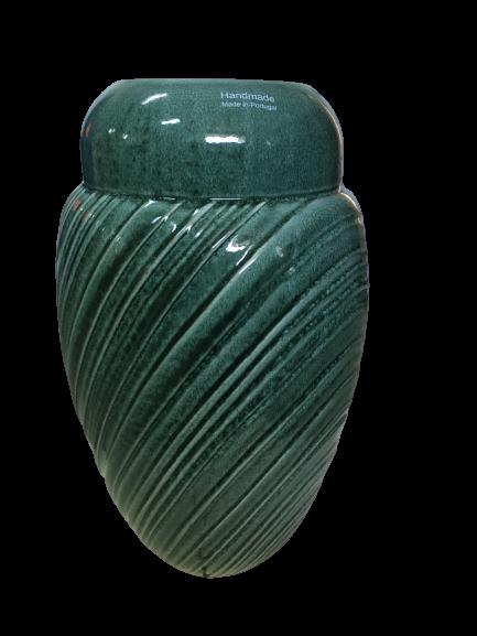 Set Carafa cu Vaza si Farfurie VAUX, ceramica, verde maslina, 32.5/33/5 cm 6