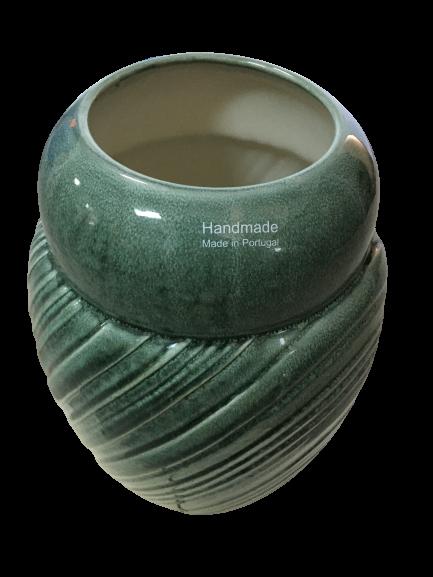 Set Carafa cu Vaza si Farfurie VAUX, ceramica, verde maslina, 32.5/33/5 cm 7